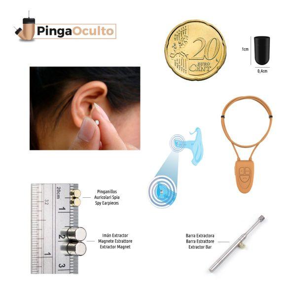 Collar Inductor Pinganillo Nano V4 Pinganillo Vip Pro UltraMini PingaOculto