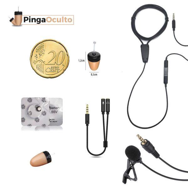 Collar Inductor Pinganillo Vip Pro Mini Oculto Para Exámenes con Micrófono Externo PingaOculto