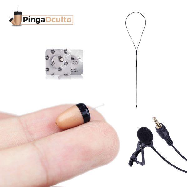 Pinganillo Vip Pro Mini Micrófono Externo PingaOculto