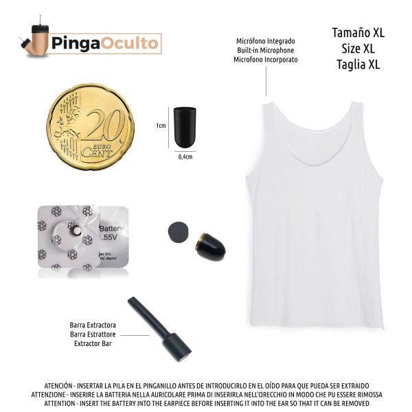Camiseta para Exámenes Pinganillo Vip Pro UltraMini