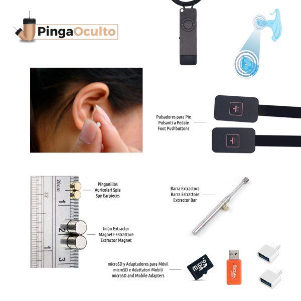 Collar Inductor Pinganillo Nano V2 Pulsadores