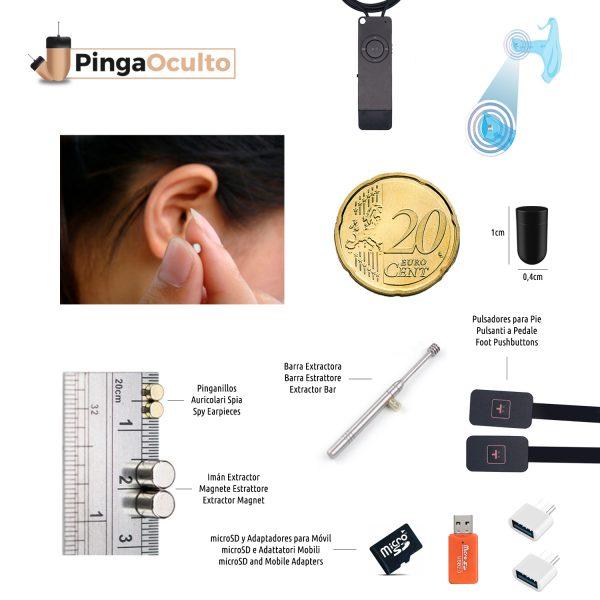 Collar Inductor Pinganillo Nano V2 Pulsadores Vip Pro UltraMini