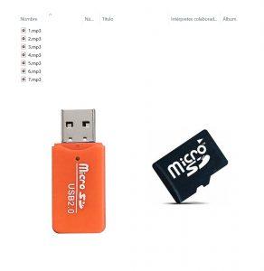 USB MicroSD para Nano V2 Botones Pie